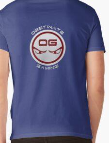Obstinate Gaming (White Text) Mens V-Neck T-Shirt
