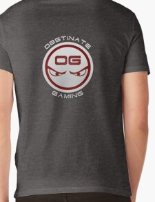 Obstinate Gaming (White Text) Mens V-Neck T-Shirt