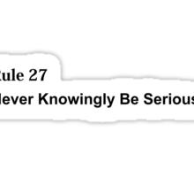 Rule 27 Sticker