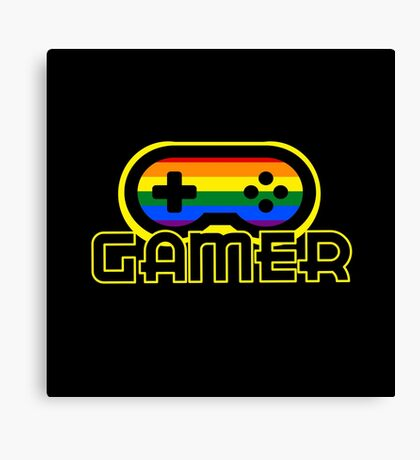 Rainbow Gamer Canvas Print