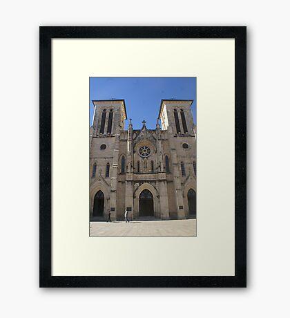 San Antonio Plaza Framed Print