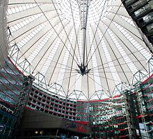Conical glass roof of the Sony Centre by photoeverywhere