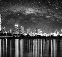 Milkyway and Auckland Skyline by Amit Kamble