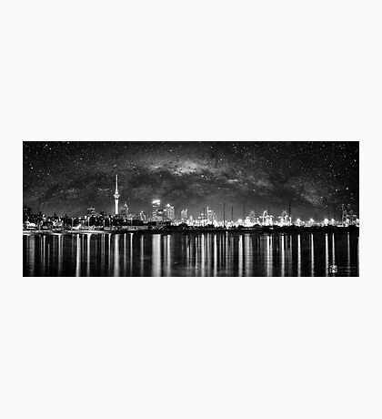 Milkyway and Auckland Skyline Photographic Print