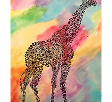 Tie-Dye Giraffe  by devancurrao