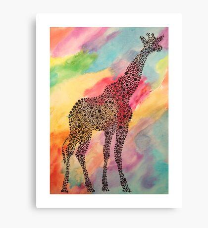 Tie-Dye Giraffe  Canvas Print