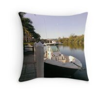 Morning Solitude at Cape Harbour  Throw Pillow