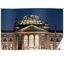 The Reichstag building at night Poster