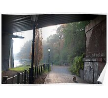 Footpath along the River Spree Poster