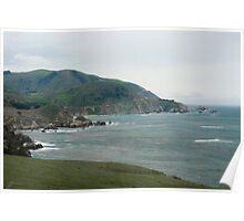 rocky creek coast seascape Poster
