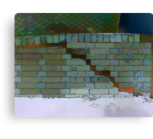 The Christchurch Earthquake School of Masonry Canvas Print