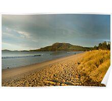 sunset beach hobart Poster
