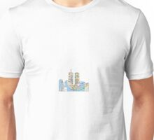 subway map down town new york city  twin towers  Unisex T-Shirt