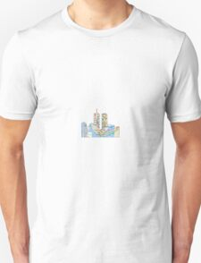 subway map down town new york city  twin towers  T-Shirt