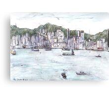 Hong Kong Island From Kowloon Canvas Print