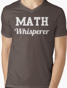 Math Whisperer Mens V-Neck T-Shirt