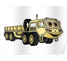 Military Truck Cartoon Poster