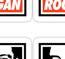 Rogan Stickers (4 Small) Sticker