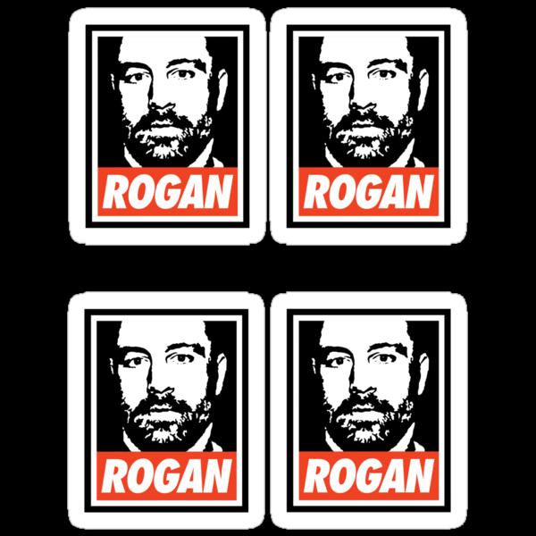 Rogan Stickers (4 Small) by Montia Garcia