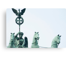 Bronze statue detail, Brandenburg Gate, Berlin Canvas Print