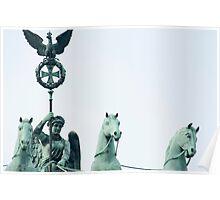 Bronze statue detail, Brandenburg Gate, Berlin Poster