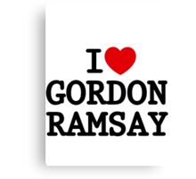 I Heart Gordon Ramsay Canvas Print