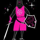 Neon Space Knight by zackolantern