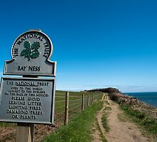 Signboard for Bay Ness, Yorkshire by photoeverywhere