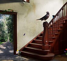 Bird Doing Stuff by averyboringname