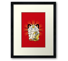 Payday Cat Framed Print