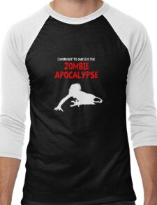 Zombie Training Men's Baseball ¾ T-Shirt