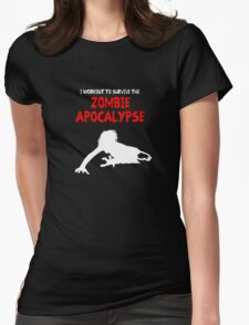 Zombie Training Womens Fitted T-Shirt