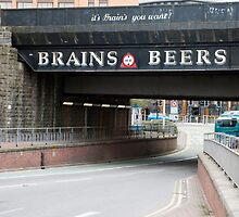 Underpass with a beer advertisement by photoeverywhere