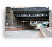 Underpass with a beer advertisement Canvas Print