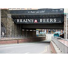 Underpass with a beer advertisement Photographic Print