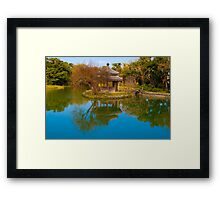 Shikinaen Royal Garden Reflection Framed Print