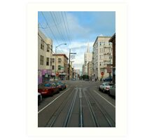 cablecar intersection Art Print
