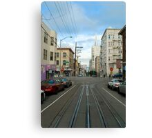cablecar intersection Canvas Print