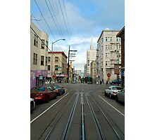 cablecar intersection Photographic Print