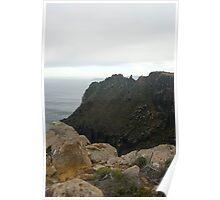 desolate cliffs Poster