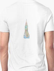 Chrysler Building, NYC SUbway Map, Building T-Shirt