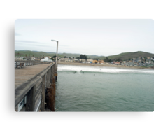 Cayucos Pier and Surf Break Canvas Print