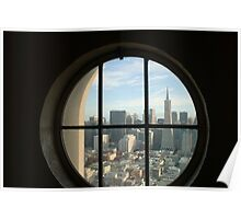 Coit Tower Circular Window Poster