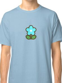 Flower Glow Blue - Day 1 (Sunday) 1of7 designs Classic T-Shirt