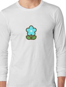 Flower Glow Blue - Day 1 (Sunday) 1of7 designs Long Sleeve T-Shirt