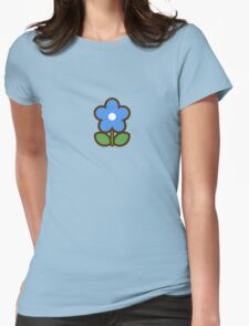 Flower Blue - Day 2 (Monday) 2of7 designs Womens Fitted T-Shirt
