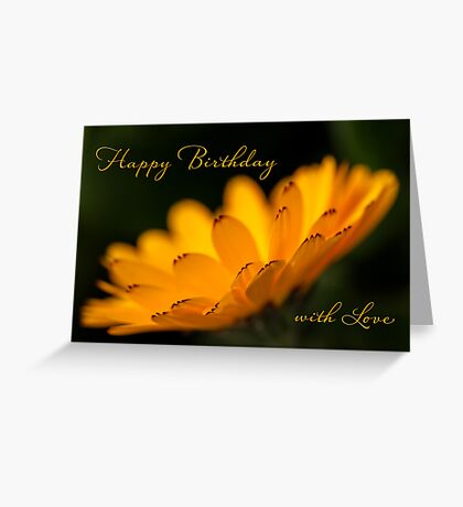 Calendula aglow - birthday Greeting Card