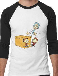 Rick and Morty Calvin and Hobbes mashup Men's Baseball ¾ T-Shirt
