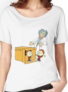 Rick and Morty Calvin and Hobbes mashup Women's Relaxed Fit T-Shirt