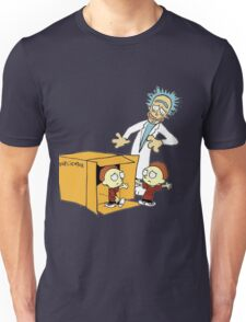 Rick and Morty Calvin and Hobbes mashup Unisex T-Shirt